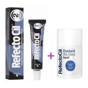 Kit Tintura Para Sobrancelhas RefectoCil Preto Azulado N° 2 + Oxidante RefectoCil 3% 10 Vol