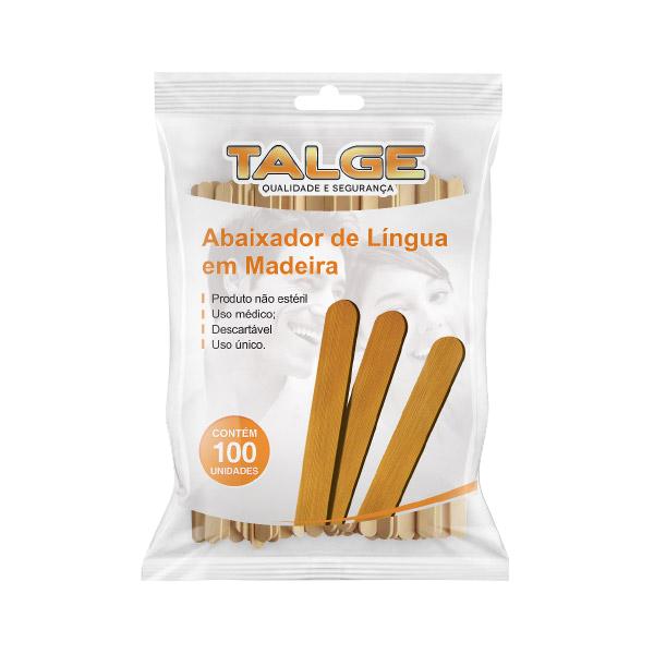 Abaixador de Língua em Madeira Talge com 100 unidades