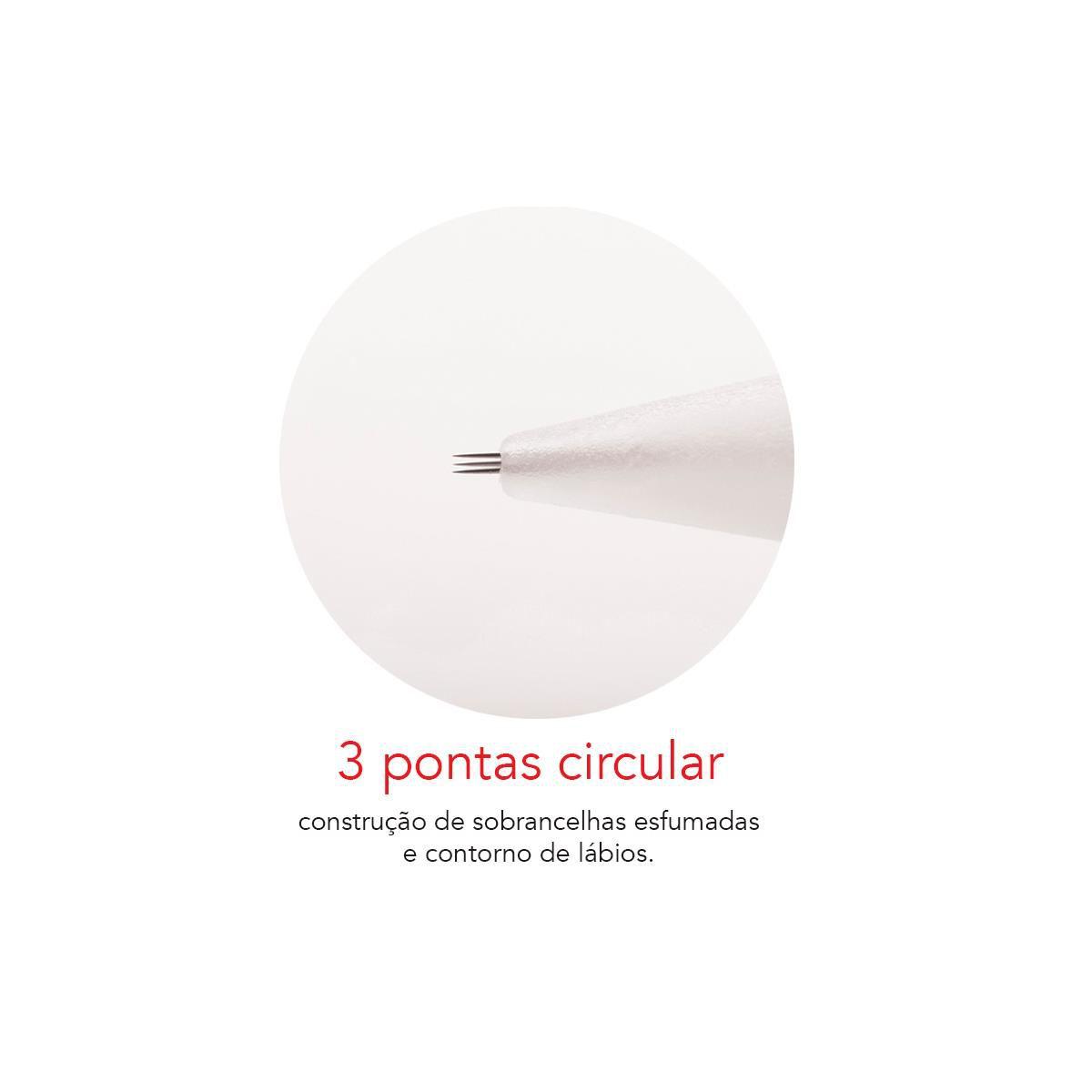 Agulha Dermomag de Rosca 3 Pontas Fine Circular