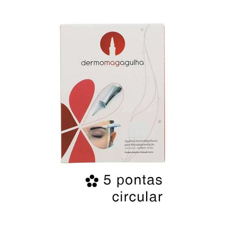 Agulha Dermomag de Rosca 5 Pontas Circular Fine Caixa 10 un