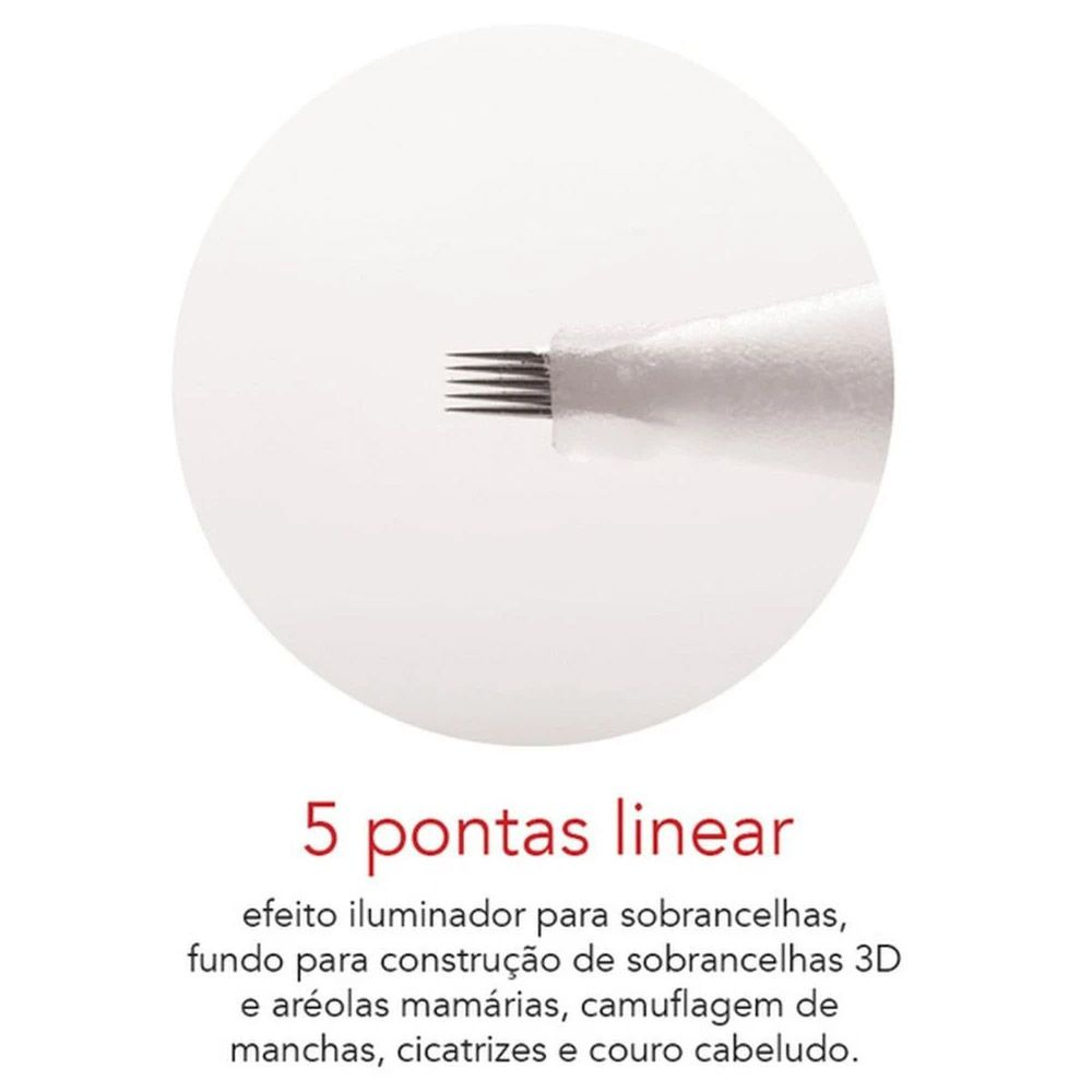 Agulha Dermomag de Rosca 5 Pontas Linear - Unidade