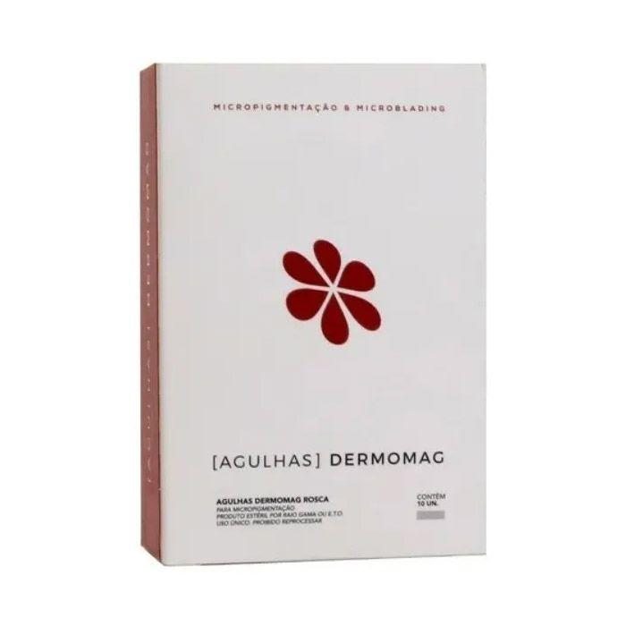 Agulha Dermomag de Rosca 5 Pontas Linear Caixa 10 un