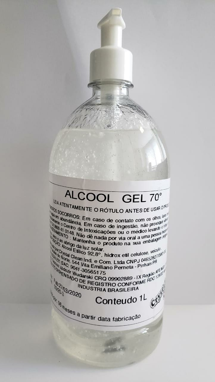 Álcool Gel 70°- 1000ml