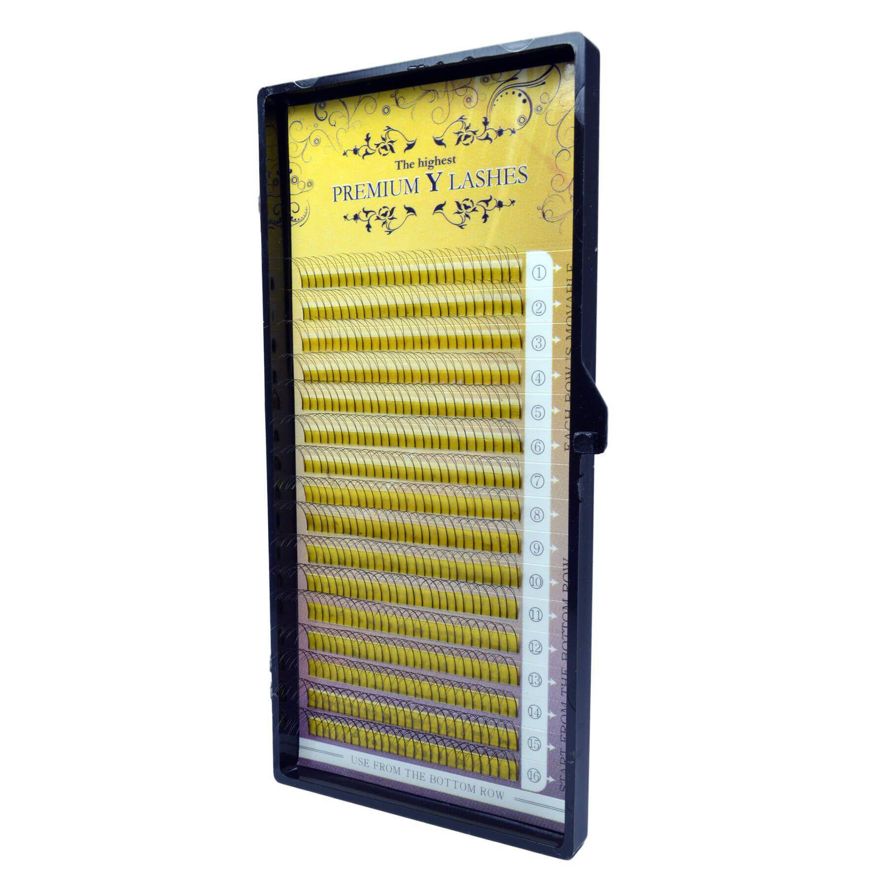 Cílios Premium Y Lashes Fans Mix de 8mm a 14mm 0.07 C