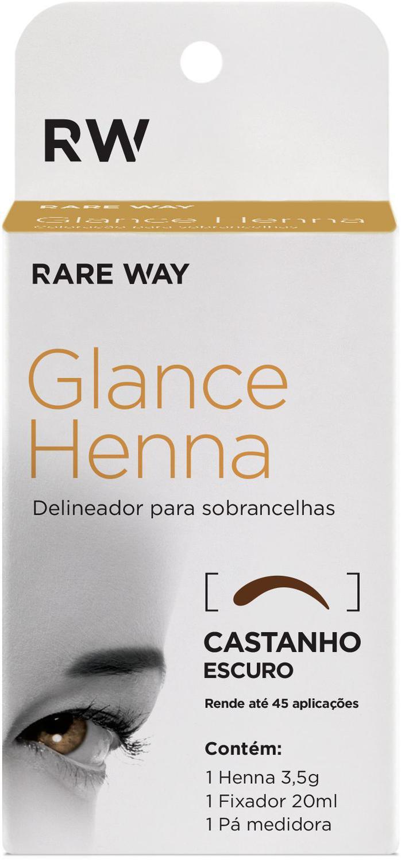 Henna para Sobrancelha Glance Castanho Escuro