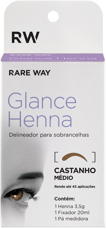 Henna para Sobrancelha Glance Castanho Médio