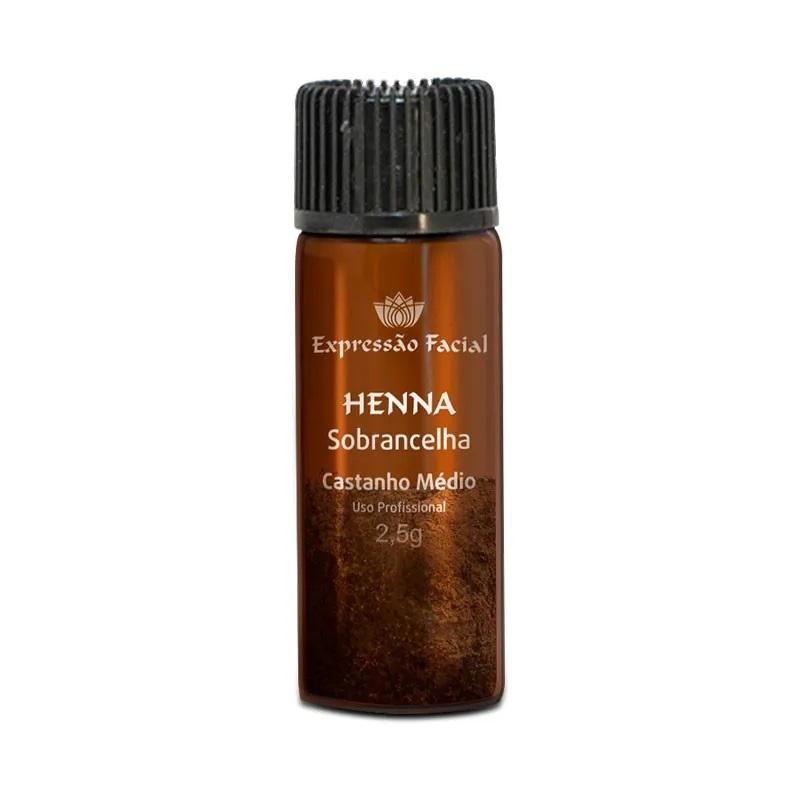 Henna para Sobrancelhas Castanho Médio Expressão Facial 2,5g