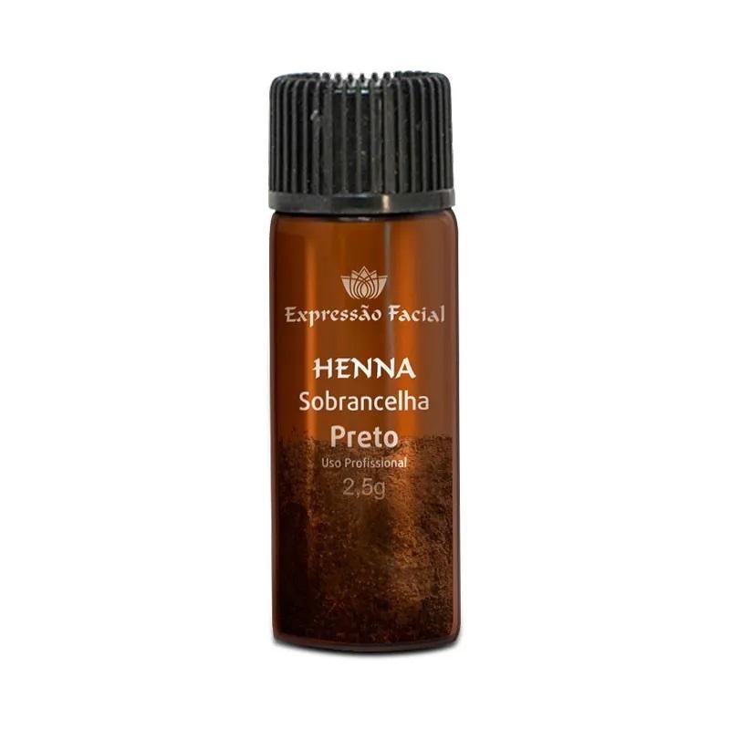 Henna para Sobrancelhas Preto Expressão Facial 2,5g