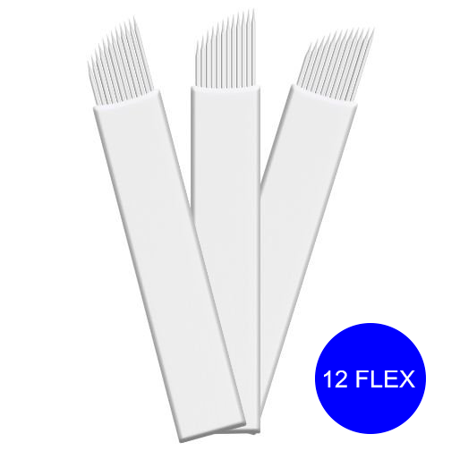 Lâmina Descartável para Tebori - 12 Flex Regular Chanfrada