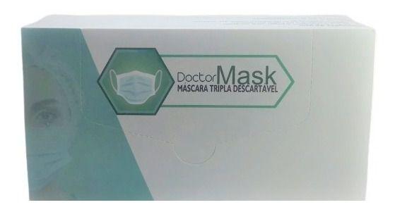 Máscara Tripla Descartável Doctor Mask - 50 uni