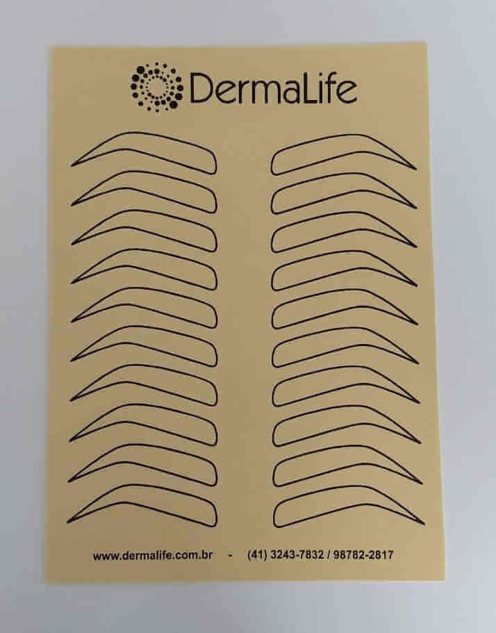 Pele Artificial para Treino com Desenho para Sobrancelhas 20x15cm