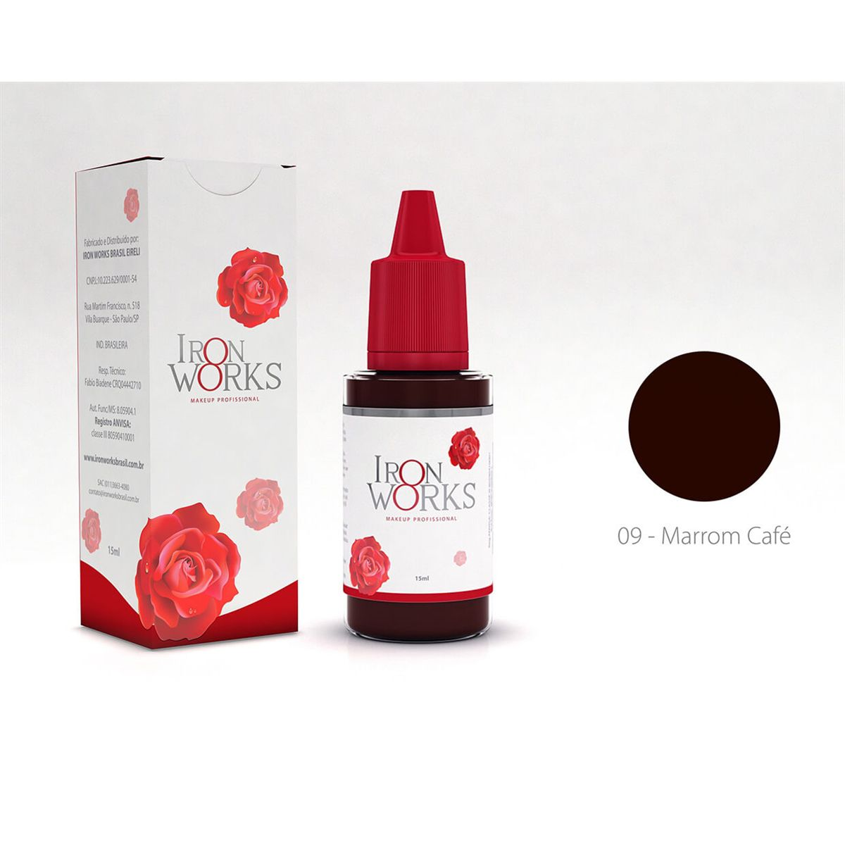 Pigmento Iron Works Marrom Café 15ml