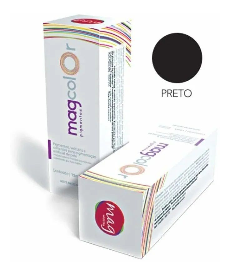 Pigmento Mag Color Preto 15ml