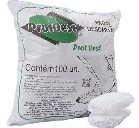 Pro Pé Sapatilha Descartável em TNT Branca ProtDesc com 100 unidades