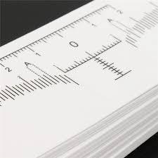 Régua Adesiva para Medição de Sobrancelhas - 10 Unidades