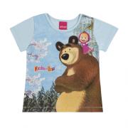 Blusa Infantil Menina Masha e o Urso  Tam 3