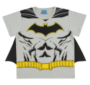 Camiseta de Manga Curta com Capa do Batman
