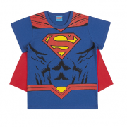 Camiseta de Manga Curta com Capa do Superman