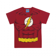 Camiseta de Manga Curta do Flash Liga da Justiça