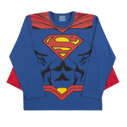 Camiseta de Manga Longa com Capa do Superman