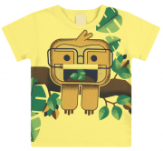 Camiseta Infantil Estampa Divertida Menino Macaquinho