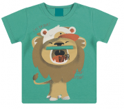 Camiseta Infantil Estampa Divertida Menino Leãozinho