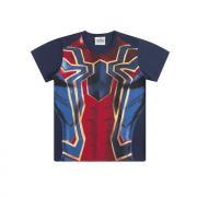Camiseta Infantil Menino Iron Spider Homem-Aranha de Ferro Marvel