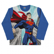 Camiseta Manga Longa Superman Lida da Justiça