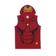 Camiseta Regata com Capuz e Viseira do Homem de Ferro
