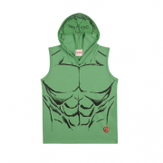 Camiseta Regata com Capuz e Viseira do Hulk