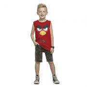Camiseta Regata Infantil Menino Angry Birds