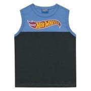 Camiseta Regata Menino Hotwheels Azul