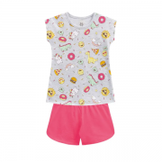 Pijama Infantil Divertido Menina Bilha no Escuro