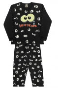 Pijama Infantil Menino Brilha no Escuro Fear of the Dark (Medo do Escuro)