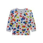 Pijama Infantil Menino Estampa Peças Lego