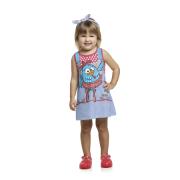 Vestido infantil Menina Galinha Pintadinha