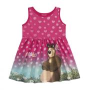Vestido Infantil Menina Masha e o Urso