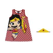 Vestido Infantil Menina Mulher Maravilha Liga da Justiça Baby