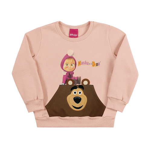 Blusa Infantil Menina Masha e o Urso Tamanho 4