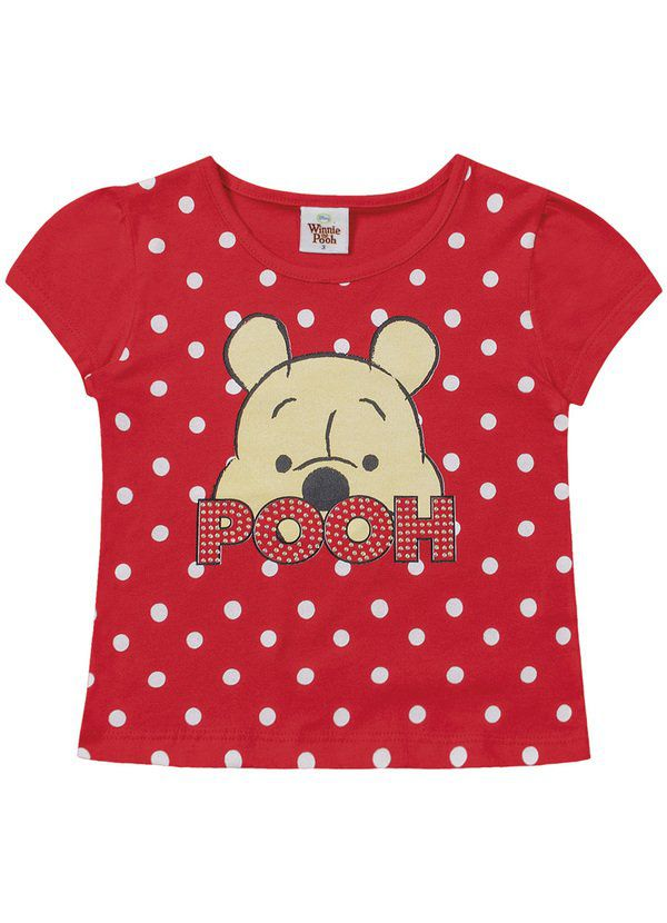 Blusa Infantil Menina Ursinho Pooh Disney