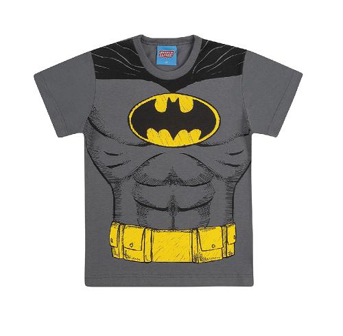 Camiseta de Manga Curta do Batman Liga da Justiça