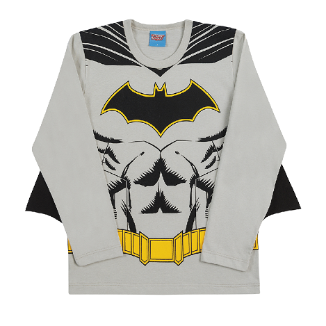Camiseta de Manga Longa com Capa do Batman
