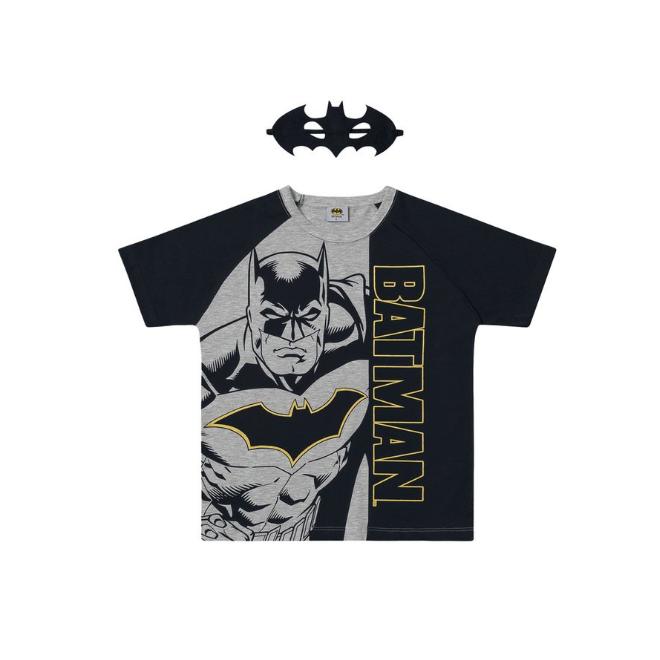 Camiseta Infantil Batman com Máscara