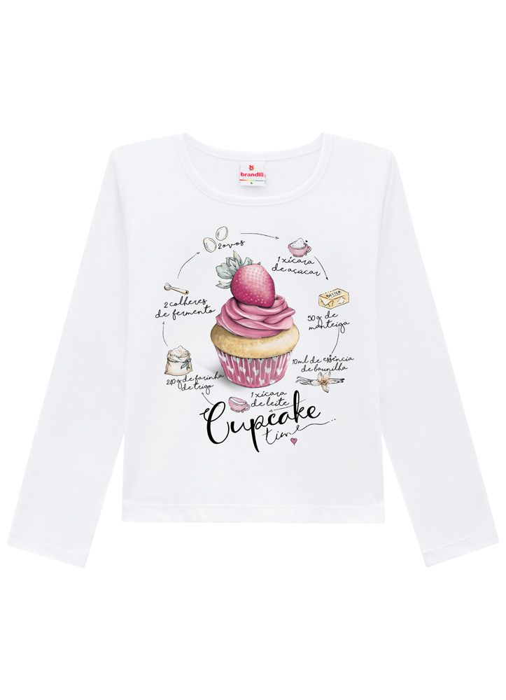 Camiseta Infantil Menina Cupcake