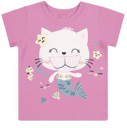 Camiseta Infantil Menina Estampa Divertida