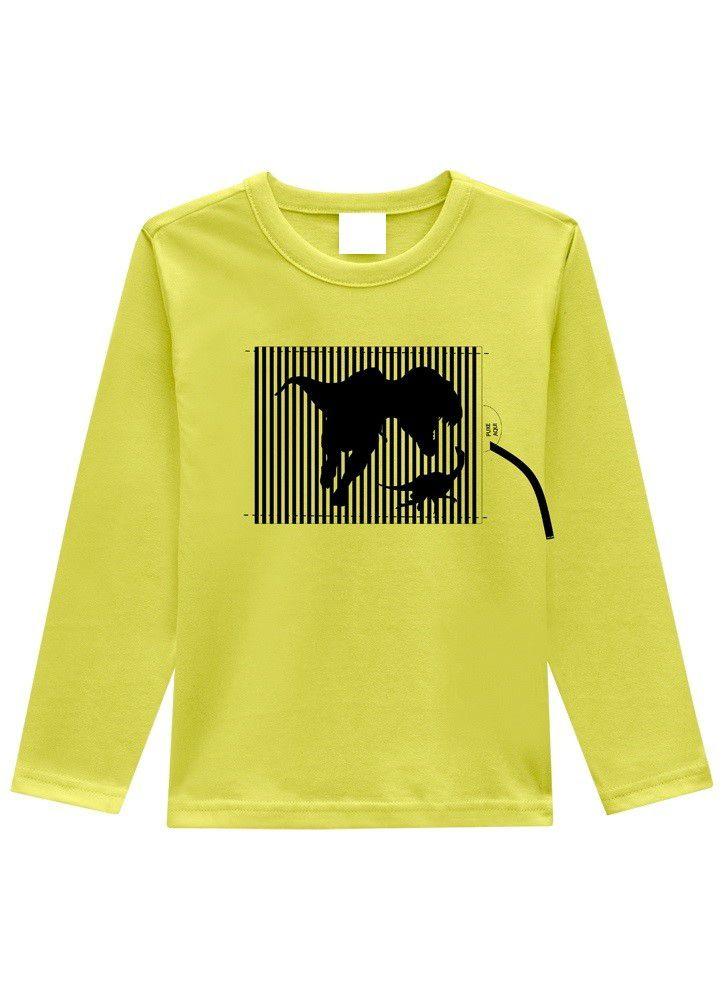 Camiseta Infantil Menino de Dinossauro