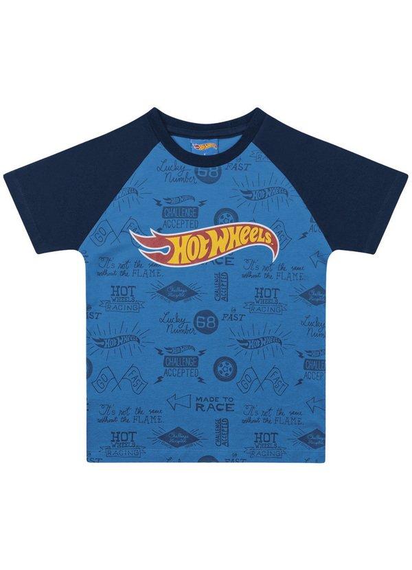 Camiseta Infantil Menino Hotwheels