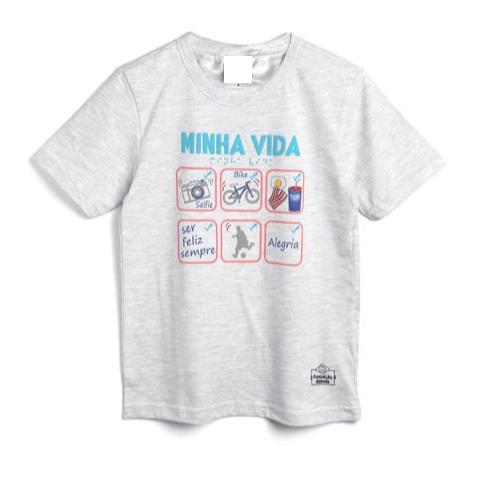 Camiseta Infantil Menino Minha Vida