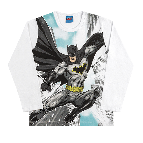 Camiseta Manga Longa do Batman Liga da Justiça