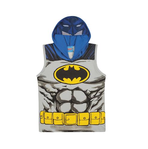 Camiseta Regata com Capuz e Viseira do Batman